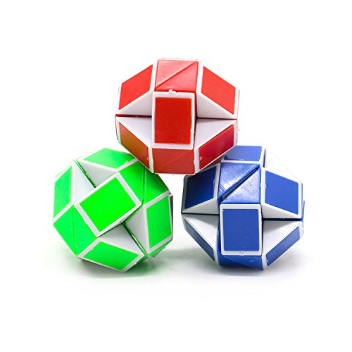 Sensory Fidget Snake Cube Twist Puzzle Twist Magic Ruler Cube (3 Pack)