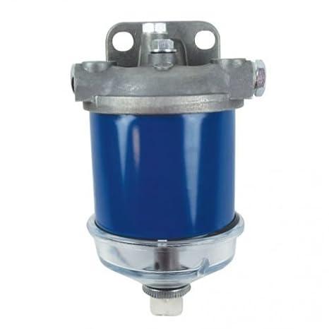 diesel fuel filter assembly - glass bowl massey ferguson ford allis  chalmers international oliver fiat landini 4000 2000 50 40 135 165 4110  3000 5610 30