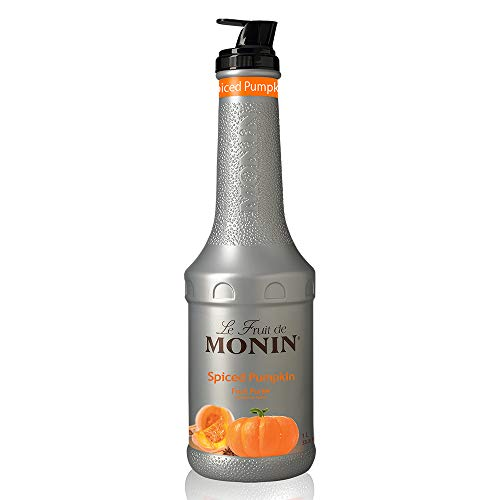 Monin - Spiced Pumpkin Purée, Pumpkin and Cinnamon Flavor, Natural Flavors, Great for Lattes, Milkshakes, Specialty Coffees, and Cocktails, Vegan, Non-GMO, Gluten-Free (1 ()