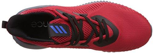 adidas Unisex-Kinder Alphabounce J Fitnessschuhe rot / schwarz