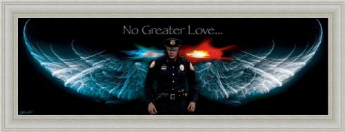 Amazon.com: No Greater Love Police Angel Wings 19.5x7.5 Framed Art ...