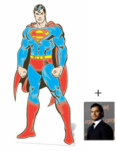 Fan Pack - Superman the Man Of Steel Lifesize Cardboard Cutout / Standee DC Comics Style - Includes 8x10 (25x20cm) Star Photo