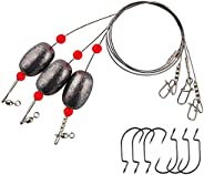 Capernaum Sliding Assembly Fishing Egg Sinker Heavy Weight 2 Oz Hooks Ready Rigs - Snook Inlet Rig Salt water