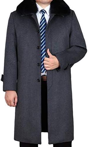 Herren Mantel Einreiher Wolle L/ässige Reverskragen Windbreaker Jacke Wollmantel Slim Jacke