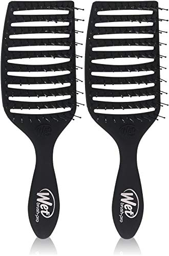 2 PACK - Women's Wet Brush Pro Epic Professional Quick Dry Hair Brush (Black)