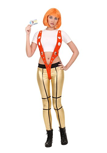 5th Element Leeloo Orange Harness Costume Small
