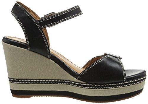Clarks Femmes Zia Château Plate-forme Sandale Noir