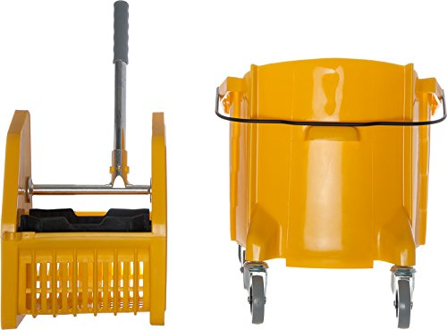 Carlisle 3690504 Commercial Mop Bucket With Down Press Wringer, 35 Quart Capacity, Yellow by Carlisle (Image #7)