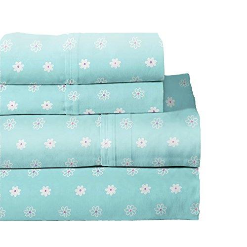 Lullaby Bedding 200-QBFLY Butterfly Garden Cotton Printed Sheet Set, Queen