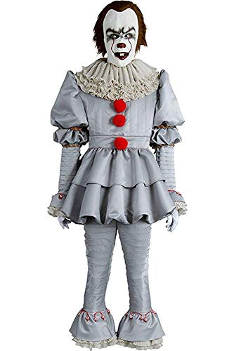 Mesodyn Adult Cosplay Costume Halloween Deluxe Clown Outfit (Medium, Men Size (Without Mask))