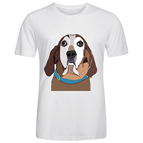 Custom Pet Illustration Cool Men T-Shirt White