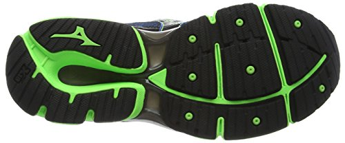 Viscotech Mizuno Black 6 Wave da Scarpe Enigma Uomo Green Blu Skydiver Gecko Blue Corsa wOwqBr