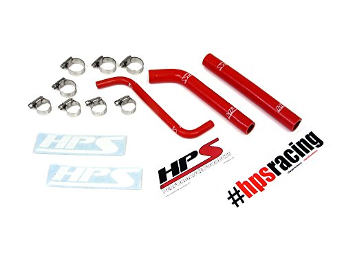 HPS 57-1376-RED Red Silicone Radiator Coolant Hose Kit (Best Coolant For High Performance Cars)