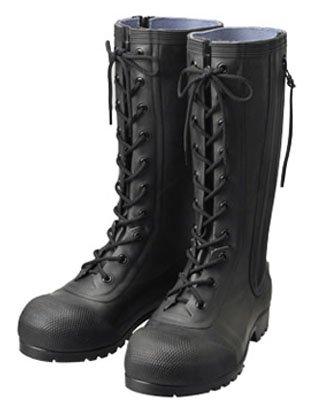 シバタ工業 安全編上長靴 HSS-001 黒 24.0cm ※メーカー直送品 AB090  B0783BQ2WK