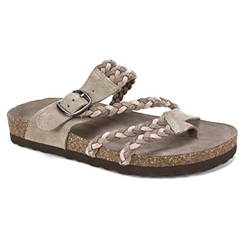 WHITE MOUNTAIN Shoes Helena Women's Sandal, Blush/Taupe/Multi/Suede, 7 - Helena Buckle