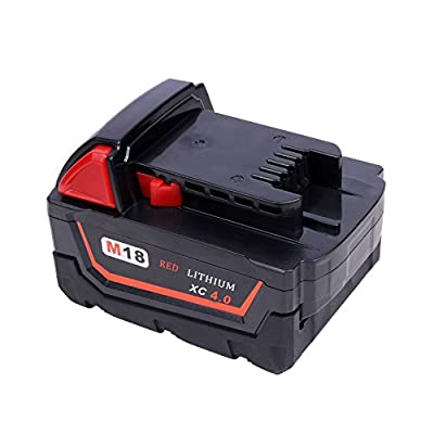 Replacement Battery for Milwaukee, 4.0Ah M18 Tool Battery