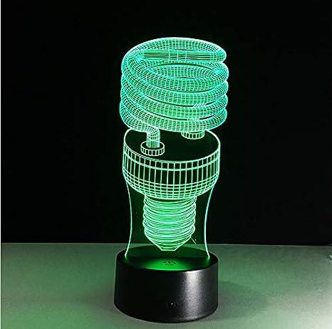 Bombilla ahorro de Lámpara energía en espiral 7 colores de QxdBroeWC