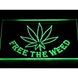 ADV PRO 404-g Free the Weed Marijuana High Life LED Light Sign Barlicht Neonlicht Lichtwerbung