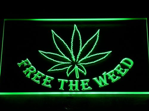 Cartel Luminoso ADV PRO 404-g Free the Weed Marijuana High ...