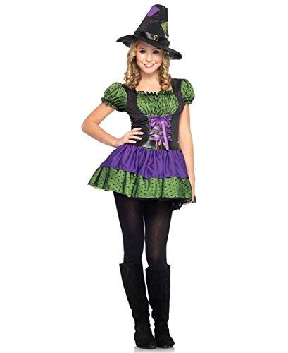 [Leg Avenue J48034 Hocus Pocus Junior Halloween Costume - M/L - Purple/Neon Green] (Hocus Pocus Halloween Costumes)