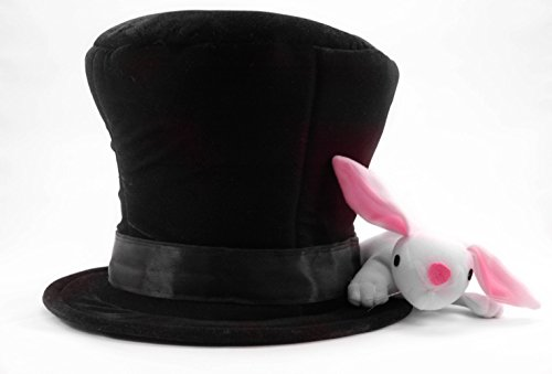 Magician's Assistant Costume (Magician Hat with Rabbit sized for adults and teens, by elope)