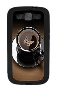 Samsung S3 Case Black coffee cup TPU Custom Samsung S3 Case Cover Black