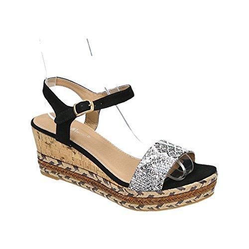 Belle Women–Correas sandalette negro
