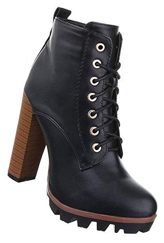 High Boots Stiefeletten 38 40 Schnür 39 41 Braun Schwarz Schuhe 37 Heels 36 Schwarz Damen Grau dIqwxSFS