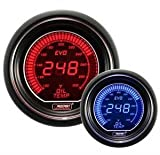 Oil Temperature Gauge- Electrical Red/blue EVO Series 52mm (2 1/16'')