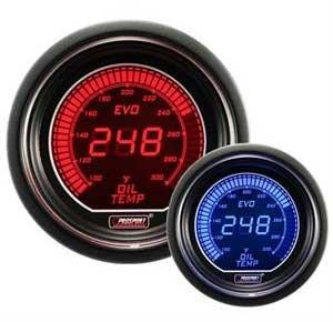 "Oil Temperature Gauge- Electrical Red/blue EVO Series 52mm (2 1/16"")"