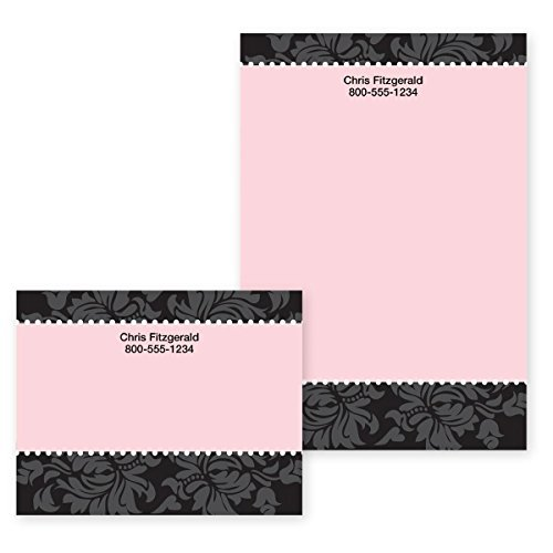 "Damask Chic and Pink Personalized Post-it Notes - 4"" x ()"