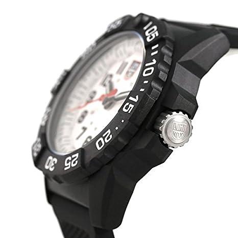 482550d553 Amazon   [ルミノックス]LUMINOX 腕時計 ネイビーシールズ 3500シリーズ ホワイト×ブラック 3507 メンズ [並行輸入品]    並行輸入品・逆輸入品・中古品(メンズ) ...