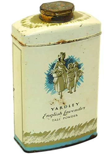 Vintage Yardley English Lavender Talc Powder Advertising Tin Talcum Can
