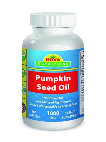 Nova Nutritions Pumpkin Seed Oil 1000 mg 180 Softgels