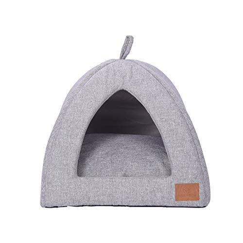 Miss Meow Cat Dog Tent Triangle Pet Bed Self Warming Removable Cushion Cover Two Way Conversion 15