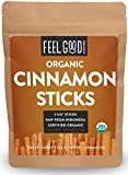 "Organic Korintje Cinnamon Sticks - Perfect for Baking, Cooking & Beverages - 25+ Sticks - 2 3/4"" Length - 100% Raw From Indonesia - by Feel Good Organics"