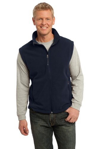 Port Authority Men's Value Fleece Vest L True - Navy Vest Fleece