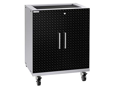 NewAge Products Inc. Performance Plus 2.0 Garage Cabinet, Diamond Plate Black