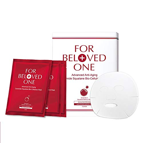 FOR BELOVED ONE Advanced Anti-Aging Ceramide Squalane Bio-Cellulose Facial Treatment Mask (33g x 3pieces/box)