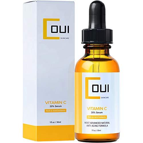 Natural Vitamin C Serum Anti Aging Anti Wrinkle, Skin Lightening - Most VIT C 20%, Hyaluronic Acid for Face, Neck
