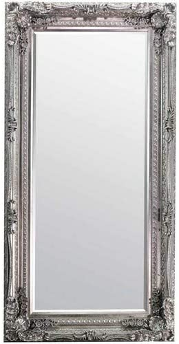 Large Silver Antique Style Wall Mirror New Rectangle 6ft X 3ft 180cm X 90cm Amazon Co Uk Kitchen Home