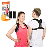 Koondalini Back Posture Corrector for Women & Men - Comfortable and Discreet Posture Brace for Back Support & Clavicle Support - Effectively Improve Posture