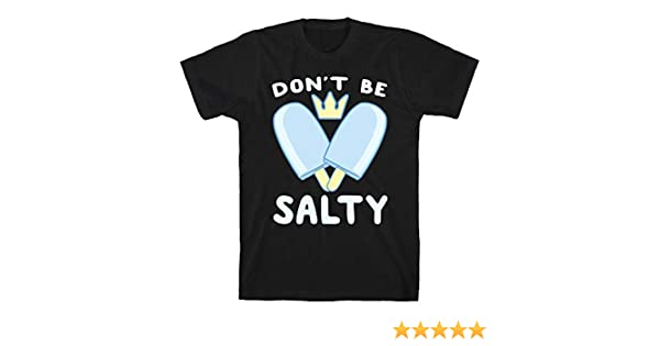 63c343a9a4d8c3 Amazon.com: LookHUMAN Don't Be Salty - Kingdom Hearts Black Men's Cotton Tee:  Clothing