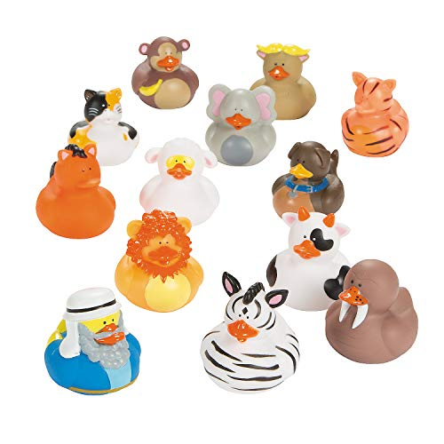 Fun Express - Noah's Ark Rubber Duckies - Toys - Character Toys - Rubber Duckies - 25 Pieces