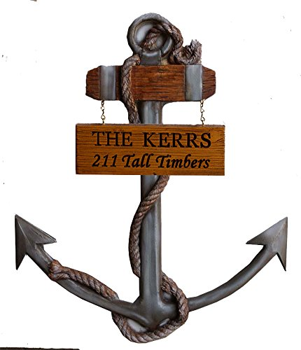 Piazza Pisano Anchor Wall Decor Personalized Name or Address Sign