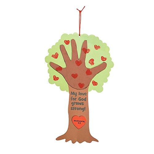 Poem Craft Kit (Religious Valentine Tree Thumbprint Poem Craft)