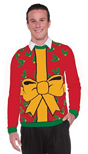 Forum Novelties Adult All Wrapped Up Red Ugly Christmas Sweater, Multi, Medium -