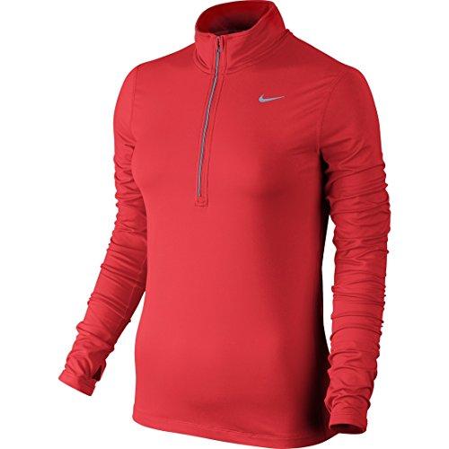 Top Nike lt Element Rouge Manches À Femme Longues Crimson Zip Half Silv reflective 6r6qnwTtz