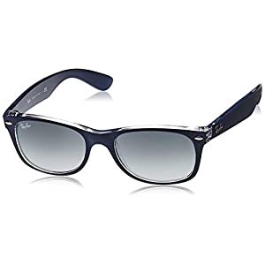 Ray-Ban New Wayfarer Classic, Top Matte Blue On Transparent