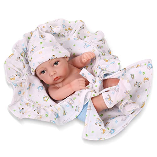 Npkdoll Reborn Baby Doll Hard Silicone 11inch 28cm Small Quilt -
